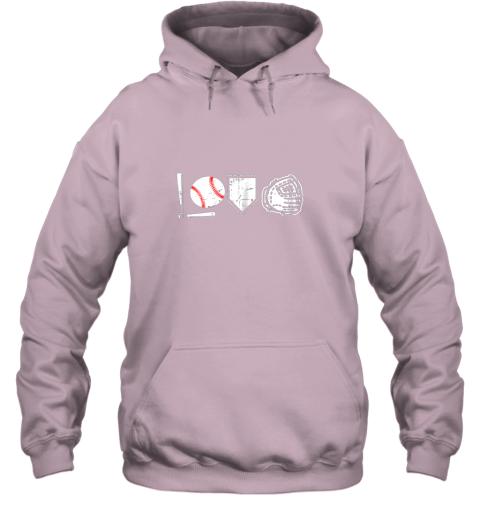 jj4m i love baseball baseball heart hoodie 23 front light pink