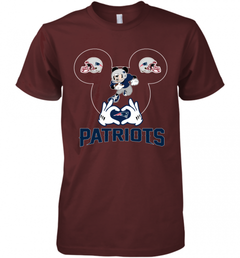yeyk i love the patriots mickey mouse new england patriots premium guys tee 5 front maroon