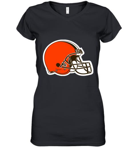 tvjp cleveland browns nfl pro line by fanatics branded brown victory women v neck t shirt 39 front black