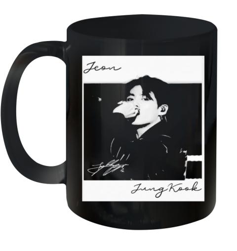 Bts Band Jeon Jungkook Signature Ceramic Mug 11oz