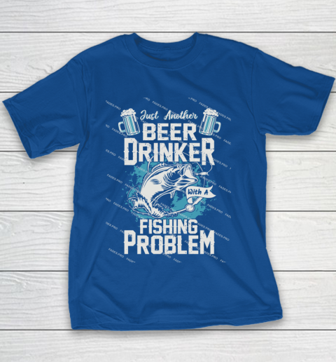 Beer Lover Funny Shirt Fishing ANd Beer Youth T-Shirt 6