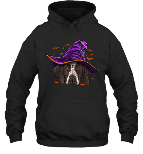 German Shorthaired Pointer Witch Funny Halloween Dog Lover Hoodie