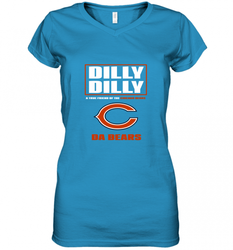 v0rk dilly dilly a true friend of the chicago bears women v neck t shirt 39 front sapphire