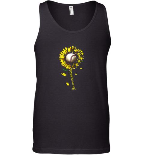 You Are My Sunshine Sunflower Baseball Tank Top