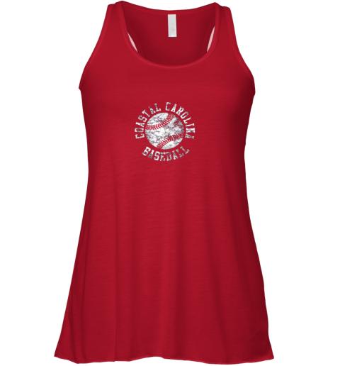 tins vintage coastal carolina baseball shirt flowy tank 32 front red