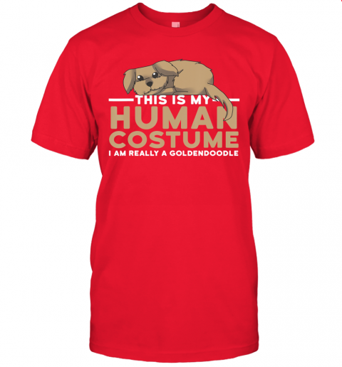 This Is My Human Costume I'm A Goldendoodle Dog Halloween T-Shirt