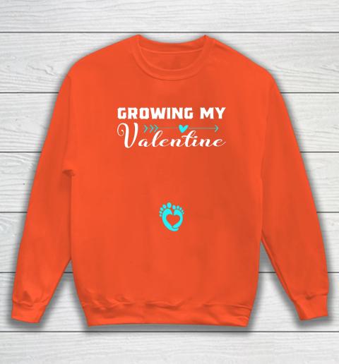 Cute Growing my Valentine Gift for Women pregnancy Sweatshirt 3