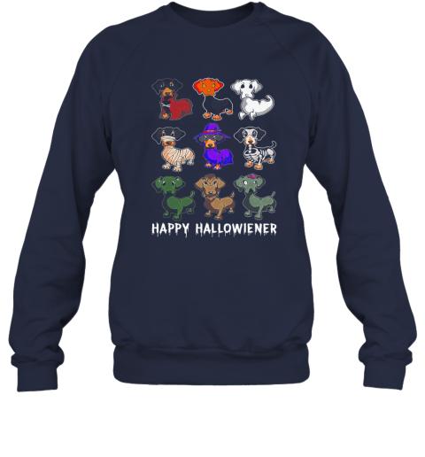 Happy Halloween Halloweiner Daschund Dog Lovers Sweatshirt