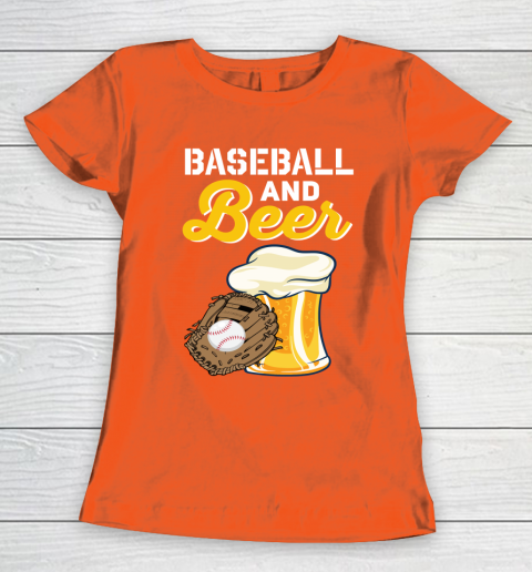 Beer Lover Funny Shirt Baseball And Beer Women's T-Shirt 3