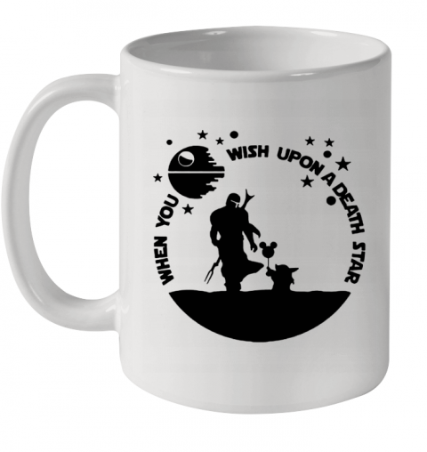 When You Wish Upon A Death Star The Mandalorian Baby Yoda Ceramic Mug 11oz