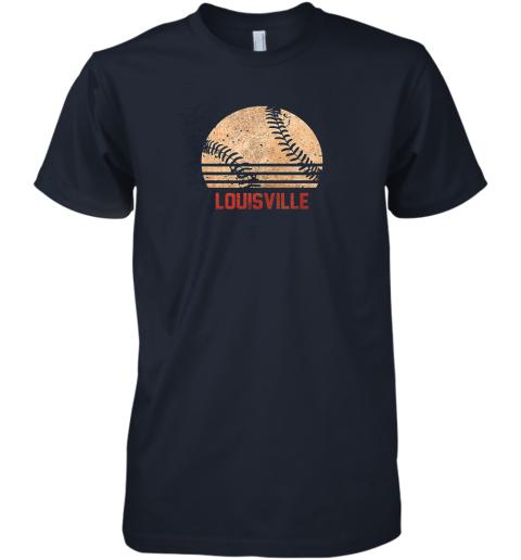 um82 vintage baseball louisville shirt cool softball gift premium guys tee 5 front midnight navy
