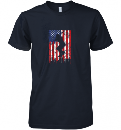 xch3 vintage patriotic american flag baseball shirt usa premium guys tee 5 front midnight navy