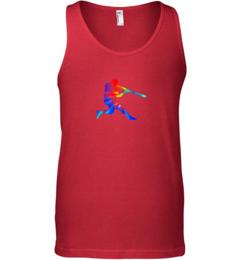 6c5k tie dye baseball batter shirt retro player coach boys gifts unisex tank 17 front red