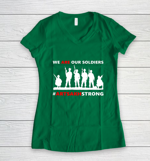 We Are Our Soldiers Women's V-Neck T-Shirt 3