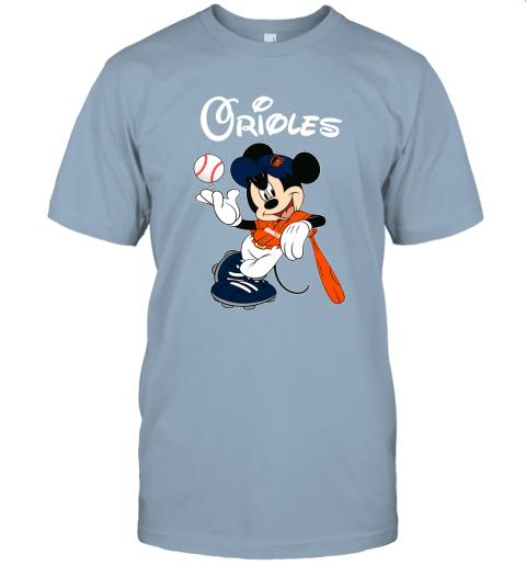 zjx3 baseball mickey team baltimore orioles jersey t shirt 60 front light blue