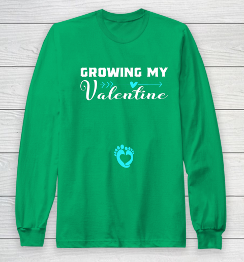 Cute Growing my Valentine Gift for Women pregnancy Long Sleeve T-Shirt 4