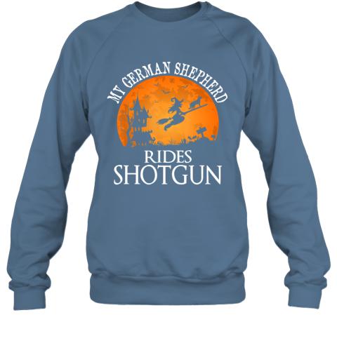 German Shepherd Rides Shotgun Dog Lover Halloween Party Gift Sweatshirt