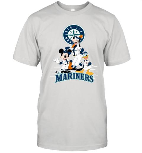 Seattle Mariners Mickey Donald And Goofy Baseball Unisex Jersey Tee