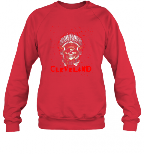 hv2y cleveland hometown indian tribe vintage baseball fan awesome sweatshirt 35 front red