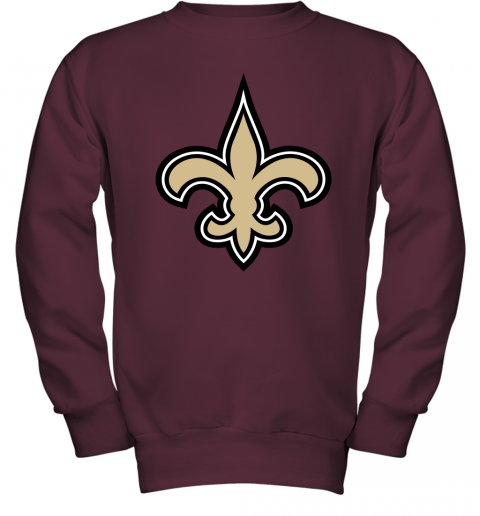 o7io orleans saints nfl pro line gray victory youth sweatshirt 47 front maroon