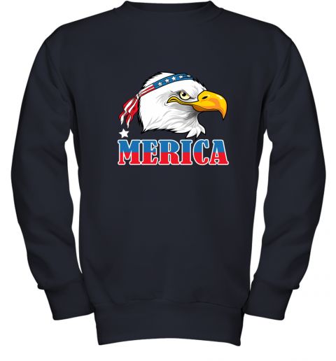 Eagle Mullet 4th Of July American Flag Merica USA Youth Sweatshirt