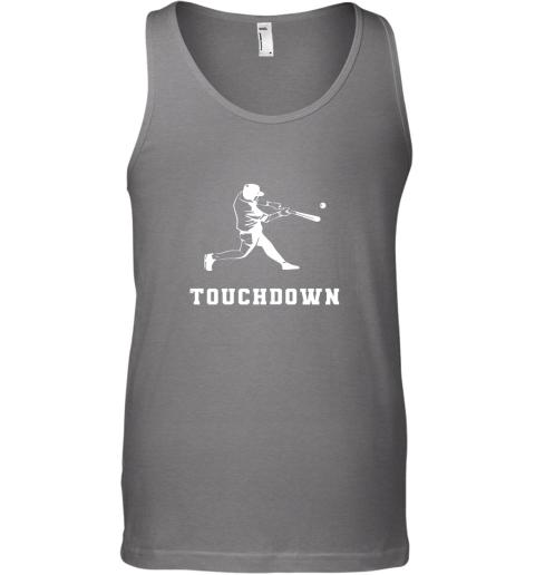ue3c touchdown baseball shirtfunny sarcastic novelty unisex tank 17 front graphite heather