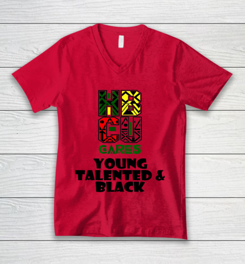 HBCU Cares College University Graduation Gift Black Schools Shirt V-Neck T-Shirt 3