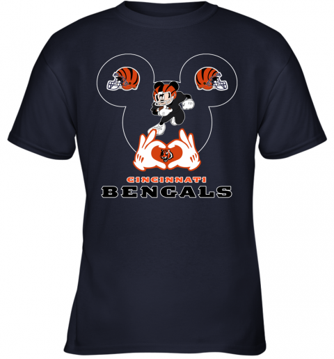huqs i love the bengals mickey mouse cincinnati bengals youth t shirt 26 front navy