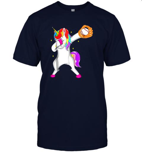 0eu3 softball dabbing unicorn baseball girls teens jersey t shirt 60 front navy