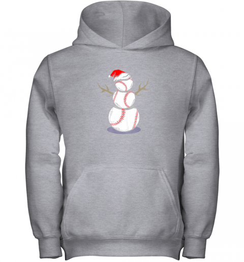 73m4 christmas in july summer baseball snowman party shirt gift youth hoodie 43 front sport grey