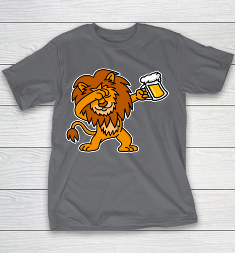Beer Lover Funny Shirt Dab Dabbing Lion Beer Dutch King's Day King Lions Youth T-Shirt 5