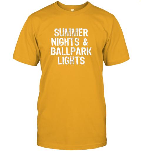 8qqh summer nights and ballpark lights baseball softball jersey t shirt 60 front gold