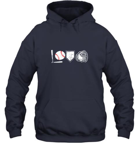 jj4m i love baseball baseball heart hoodie 23 front navy