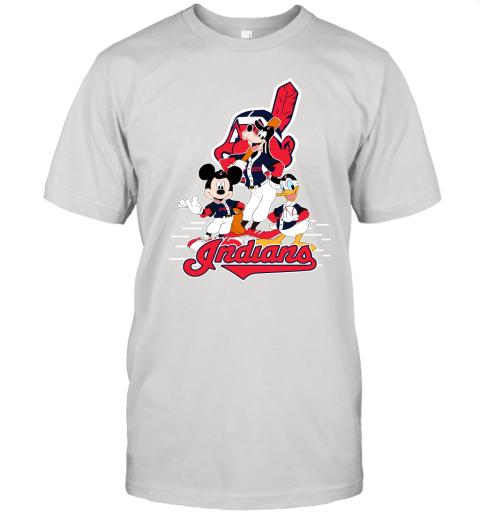 Cleveland Indians Mickey Donald And Goofy Baseball Unisex Jersey Tee