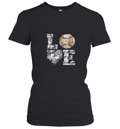 Baseball Distressed Ball Cute Dad Mom Love Gift Women's T-Shirt