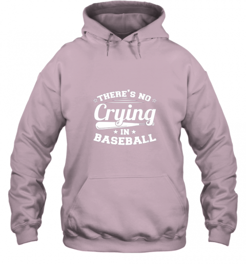 tpjq there39 s no crying in baseball gift hoodie 23 front light pink