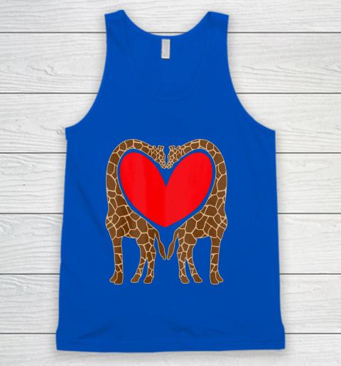 Cute Giraffe TShirt Fun Valentine Gift for Giraffe Lovers Tank Top 4