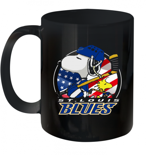 St Louis Blues   Snoopy And Woodstock NHL Ceramic Mug 11oz
