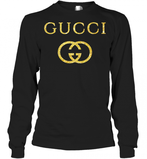 Gucci Logo Vintage Inspired Glitter Adult Long Sleeve T-Shirt
