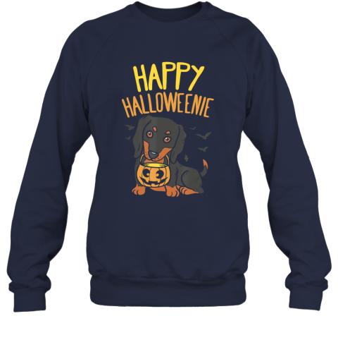 Happy Halloweenie, Dachshund Dog Halloween Wiener Boy Sweatshirt