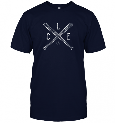 2t5w vintage cleveland baseball shirt cleveland ohio jersey t shirt 60 front navy