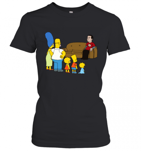 Simpsons Family And Sheldon Cooper Mashup Women's T-Shirt