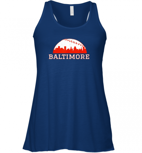 qf0t vintage downtown baltimore md baseball skyline flowy tank 32 front true royal