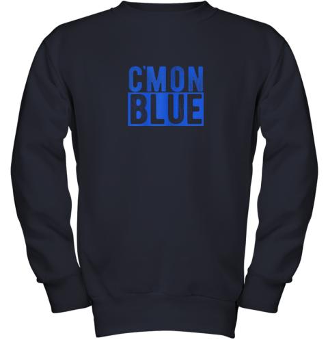 5774 cmon blue umpire baseball fan graphic lover gift youth sweatshirt 47 front navy
