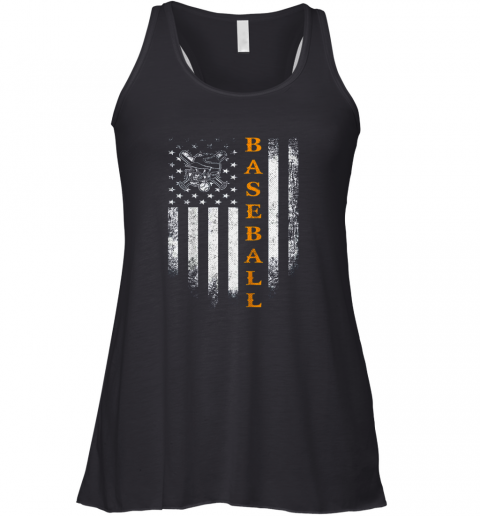 ltym vintage usa baseball distressed american flag patriotic gift flowy tank 32 front black