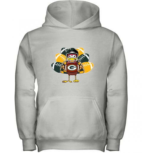 Green Bay Packers  Thanksgiving Turkey Football NFL Youth Hoodie