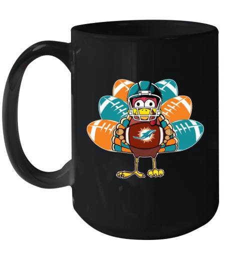 Miami Dolphins   Thanksgiving Turkey Football NFL Ceramic Mug 15oz
