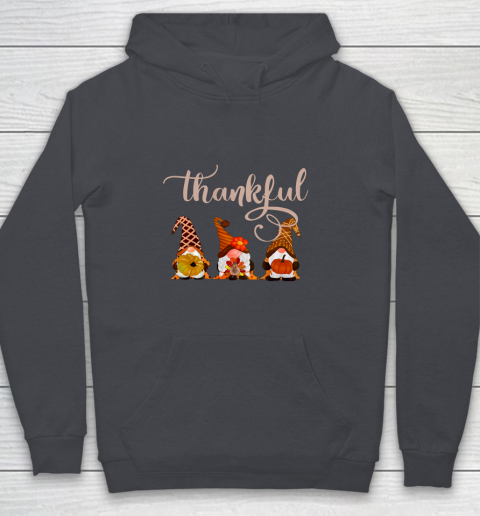 Cute Thanksgiving Thankful Gnomes Youth Hoodie 5