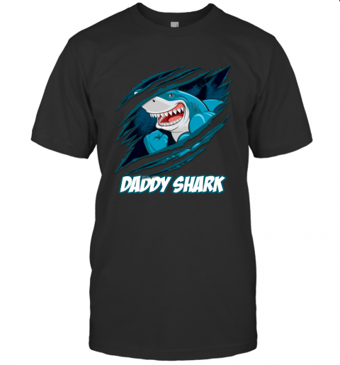 Daddy Shark New Dad Dad And Baby Matching Shirts