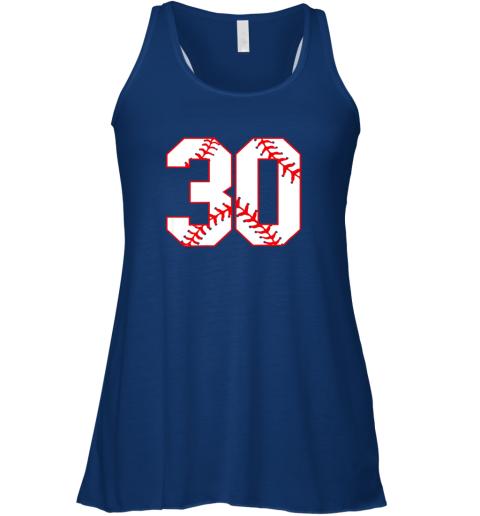 6ruj thirtieth birthday party 30th baseball shirt born 1989 flowy tank 32 front true royal